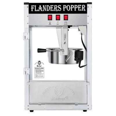 850-Watt 8 oz. Black Countertop Popcorn Machine with Single Door