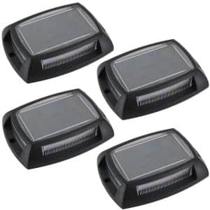 Solar Black LED Deck and Step Light (4-Pack)