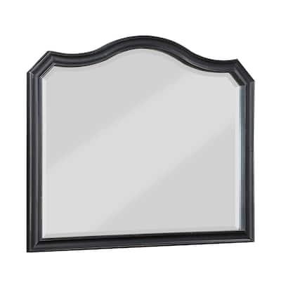 Medium Rectangle Dark Espresso Beveled Glass Classic Mirror (40 in. H x 48 in. W)