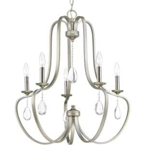 Anjoux Collection 5-Light Silver Ridge Chandelier