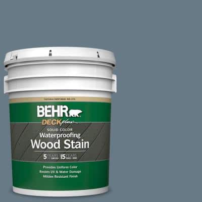 5 gal. #N490-5 Charcoal Blue Solid Color Waterproofing Exterior Wood Stain