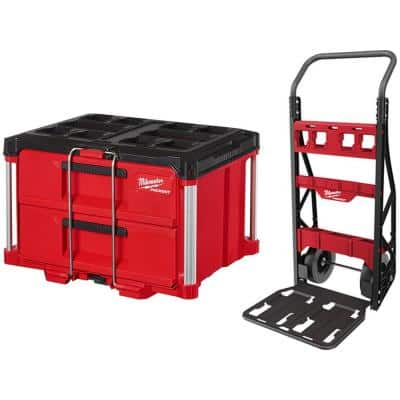 PACKOUT 20 in. 2-Wheel Utility Cart with 2-Drawer Tool Box