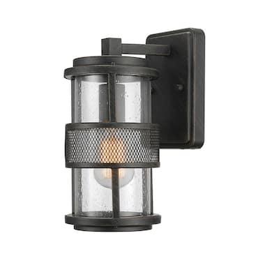 Bronson 1-Light Dark Bronze Outdoor Wall Lantern Sconce