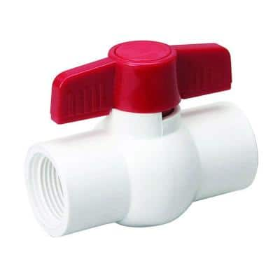 1/2 in. PVC Sch. 80 FPT Ball Valve with Quarter-Turn Operation