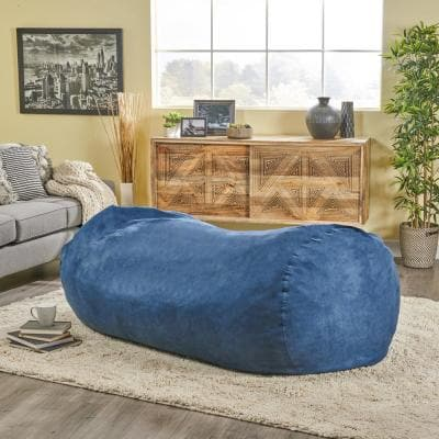 Baron Midnight Blue Suede Bean Bag Cover