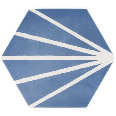 Eclipse Ray Blue 7.79 in. x 8.98 in. Matte Porcelain Floor and Wall Tile (6.03 sq. ft. / Case)