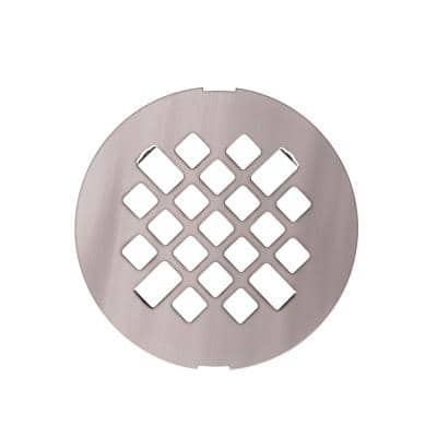 4.3 in. x 4.3 in. x 0.6 in. Shower Drain Cover in Stainless Steel