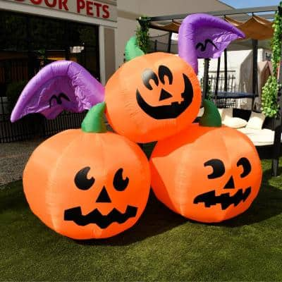 Pumpkin Halloween Inflatables Outdoor Halloween Decorations The Home Depot