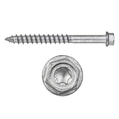 Kwik-Con II 3/16 in. x 3-3/4 in. Zinc Plated Carbon Steel Torx Hex Head Concrete Screw Anchor (100-Pack)