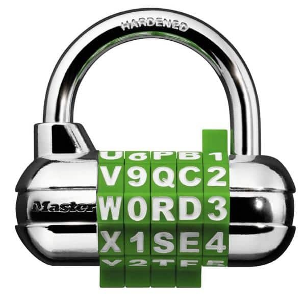 Master Lock Set Your Own 5 Dial Word Number Combination Padlock 1534dhchd The Home Depot