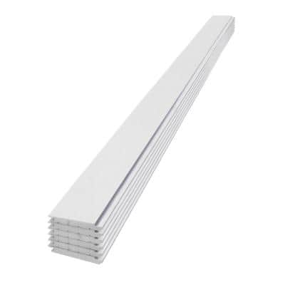 1 in. x 6 in. x 8 ft. UFP-Edge Timeless Farmhouse White Smooth Nickel Gap Shiplap (6-pack)