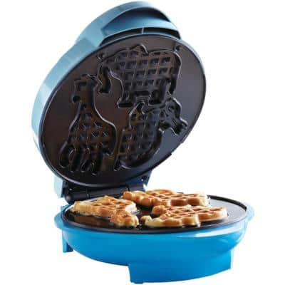 Blue Animal-Shapes Waffle Maker