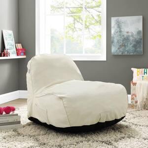 Cosmic Foam Beige Bean Bag Nylon Lounge Chair