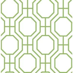 Circuit Green Modern Ironwork Paper Strippable Roll Wallpaper (Covers 56.4 sq. ft.)