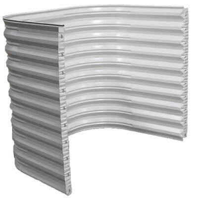 50 in. W x 72 in. H x 36 in. Projection White Steel Egress Window Well