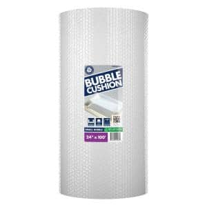 3/16 in. x 24 in. x 100 ft. Clear Perforated Bubble Cushion Wrap