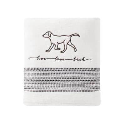 White Solid Cotton Single Bath Towel