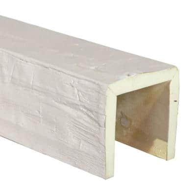 SAMPLE - 6 in. x 12 in. x 6 in. Urethane 3-Sided (U-Beam) Hand Hewn Faux Wood Ceiling Beam, Unfinished Finish