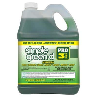Pro 3 Plus 1 Gal. Herbal Scent Antibacterial Cleaner and Disinfectant
