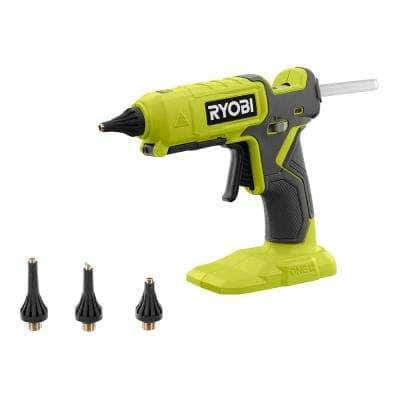 ONE+ 18V Cordless Dual Temperature Glue Gun (Tool Only) with 3-Piece Glue Gun Accessory Nozzles