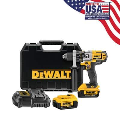 20-Volt MAX Cordless Premium 3-Speed 1/2 in. Hammer Drill with Two 20-Volt 4.0Ah Batteries, Charger and Case