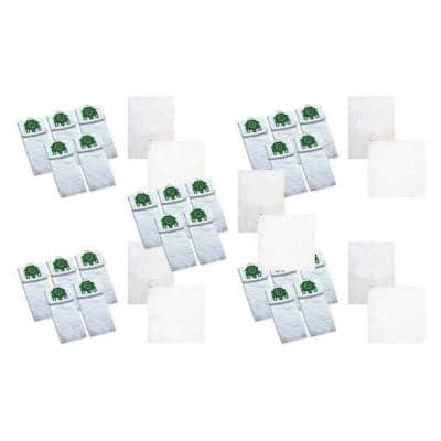 Type U Allergen Bags and 10 Filters Replacement for Miele Deluxe, Compatible with Part 07282050 (25-Pack)