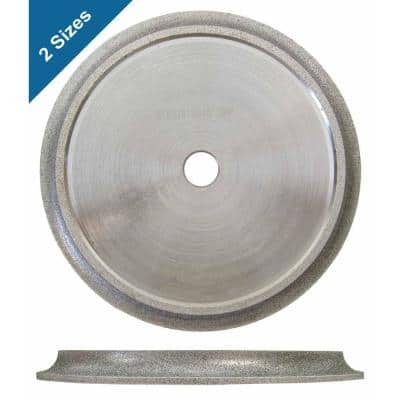 6 in. x 1/2 in. Demi Bull Nose Profile Wheel for Tile Edge Profiling