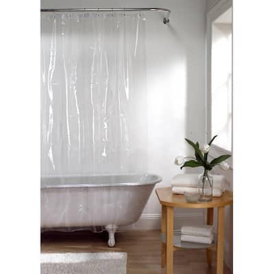 72 in. x 72 in. Premium Clear Super Heavyweight 10-Gauge Shower Curtain Liner