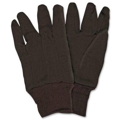 General Purpose Brown Jersey Gloves