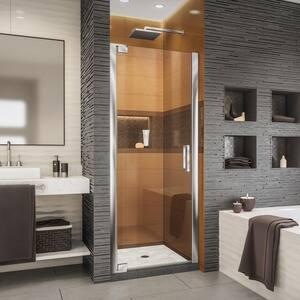 Elegance-LS 28-3/4 in. to 30-3/4 in. W x 72 in. H Frameless Pivot Shower Door in Chrome