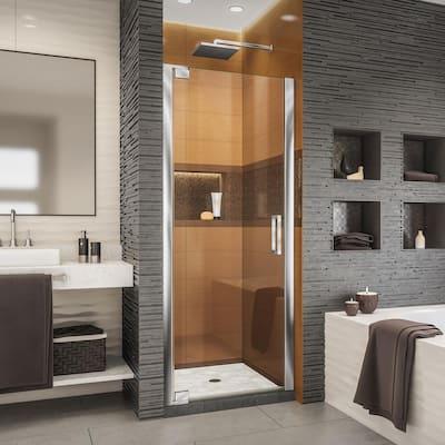Elegance-LS 30-1/2 in. to 32-1/2 in. W x 72 in. H Frameless Pivot Shower Door in Chrome