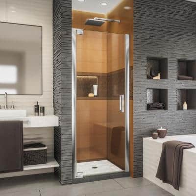 Elegance-LS 35-3/4 in. to 37-3/4 in. W x 72 in. H Frameless Pivot Shower Door in Chrome