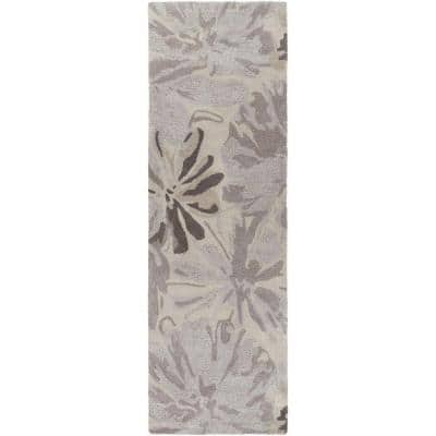 Amaranthus Gray 3 ft. x 12 ft. Indoor Runner Rug
