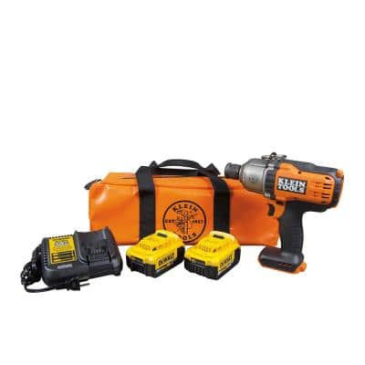 20-Volt Brushless Cordless 7/16 in. Impact Wrench with Two 4.0 Ah Batteries and Charger