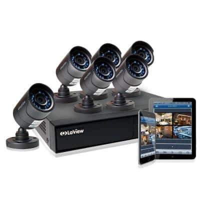 8-Channel 720P 1TB HDD Indoor/Outdoor Day Night Surveillance System and (6) HD 720P Camera 2 Bonus Channel Remote View