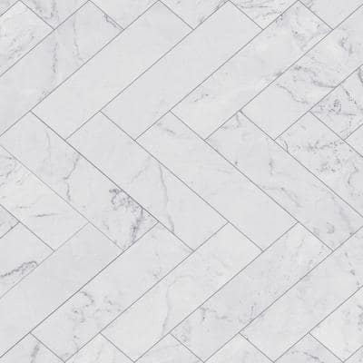 157.48 in. x 17.71 in. Off-White Marble Tiles Adhesive Film (Set of 2)