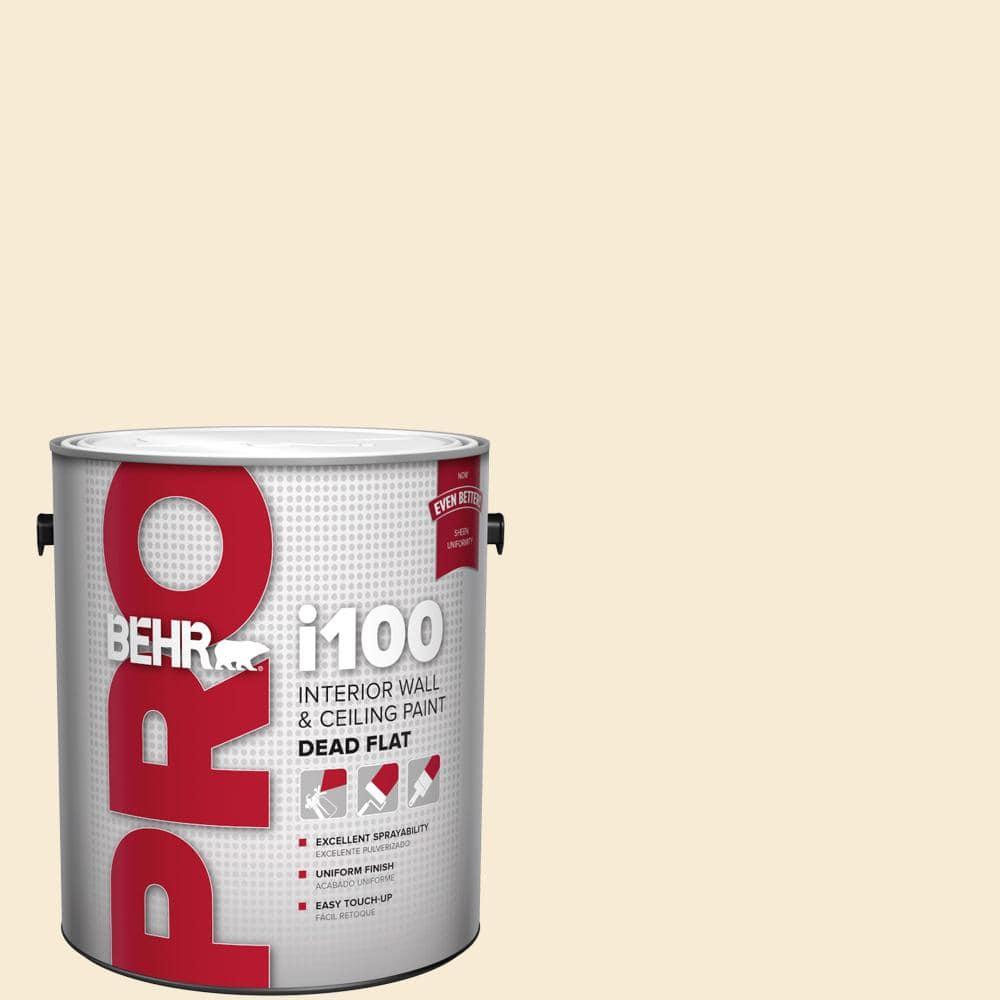 Behr Pro 1 Gal Hdc Ct 02 Garden Rose White Dead Flat Interior Paint Pr10501 The Home Depot