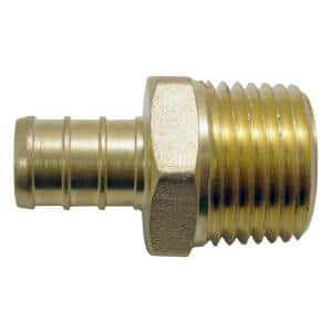 1/2 in. Brass PEX Barb x 1/2 in. Male Pipe Thread Adapter (5-Pack)