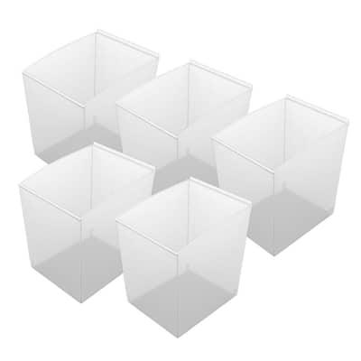 Probin Slatwall Deep Clear Storage Bin (5-Pack)