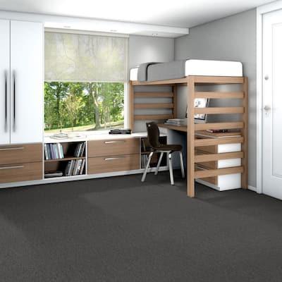 Hampton Pewter Loop Pattern Commercial 24 in. x 24 in. Glue Down Carpet Tile (20 Tiles/Case)