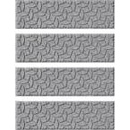 Ellipse 8.5 in. x 30 in. Stair Treads (Set of 4) Medium Gray