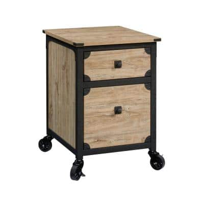 Steel River Milled Mesquite Engineered Wood File Cabinet with Casters