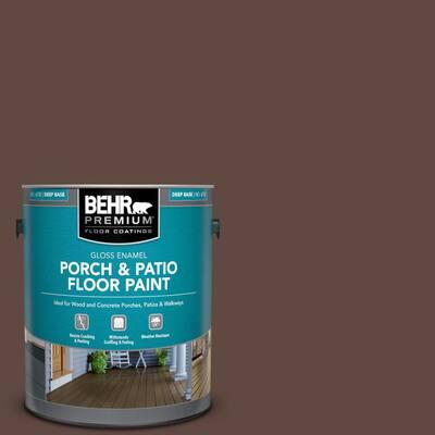 Behr Premium 1 Gal Home Decorators Collection Hdc Ac 07 Oak Creek Gloss Enamel Interior Exterior Porch And Patio Floor Paint 673001 The Home Depot