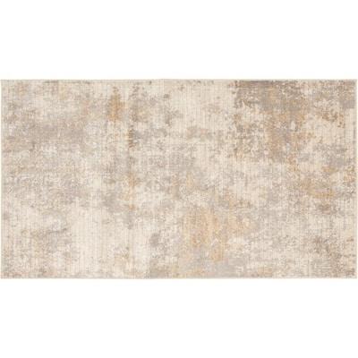 Sunbrooke White 2 ft. x 4 ft. Solid Shag Area Rug