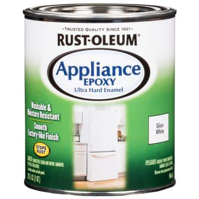 1 qt. Appliance Epoxy Gloss White Interior Enamel Paint (2-Pack)