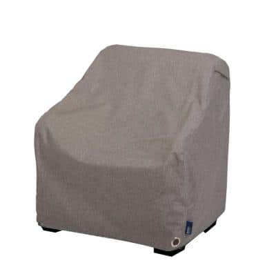 Garrison Waterproof Outdoor Patio Lounge/Club Chair Cover, 35 in. W x 38 in. D x 31 in. H, Heather Gray