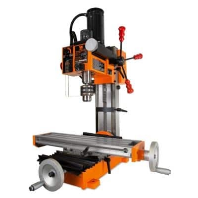 4.5A Variable Speed Single Phase Compact Benchtop Metal Milling Machine with R8 Taper
