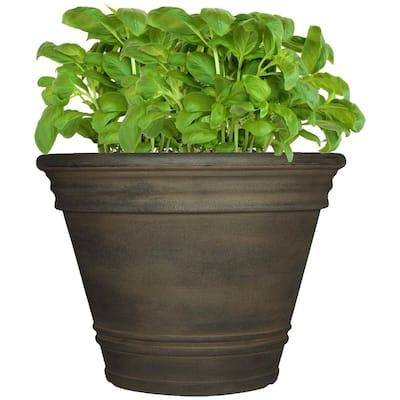 20 in. Sable Single Franklin Resin Outdoor Flower Pot Planter