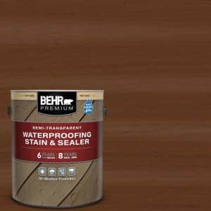 1 gal. #ST-110 Chestnut Semi-Transparent Waterproofing Exterior Wood Stain and Sealer