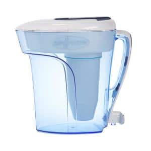 12-Cup Filtered Pitcher Ready-Pour Pitcher Water Filter Pitcher in blue with Filtration System